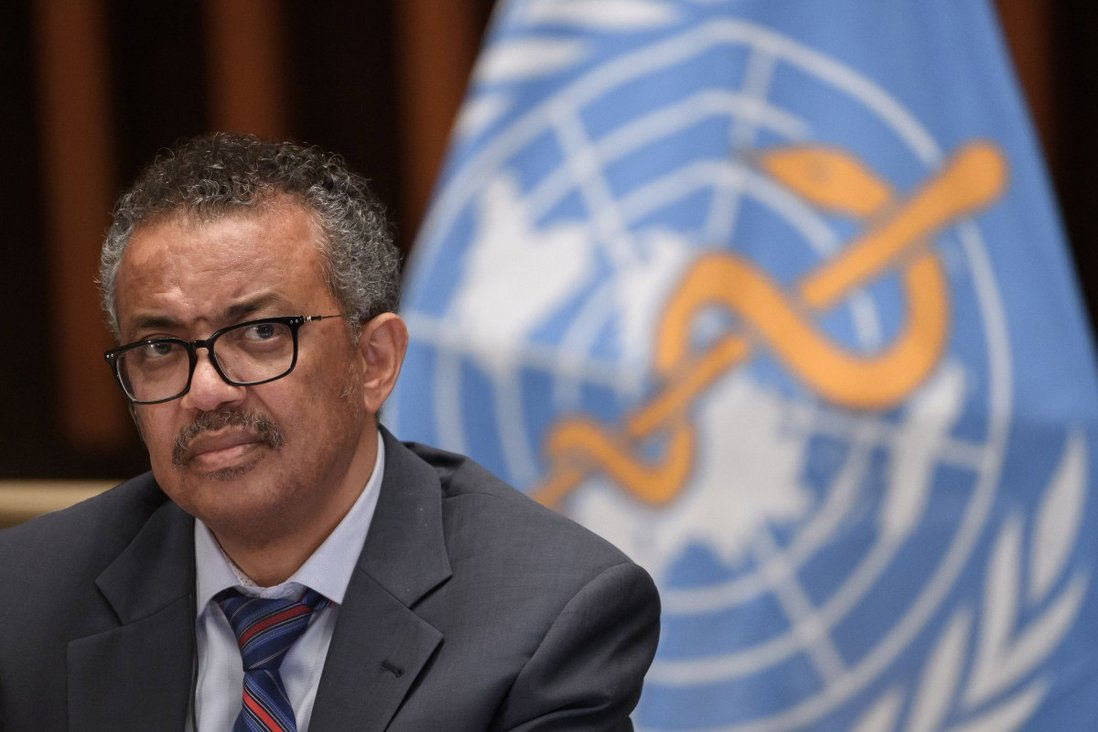 World Health Organization director general Tedros Adhanom Ghebreyesus attends a news conference at the WHO headquarters in Geneva in July 2020. Photo: AFP