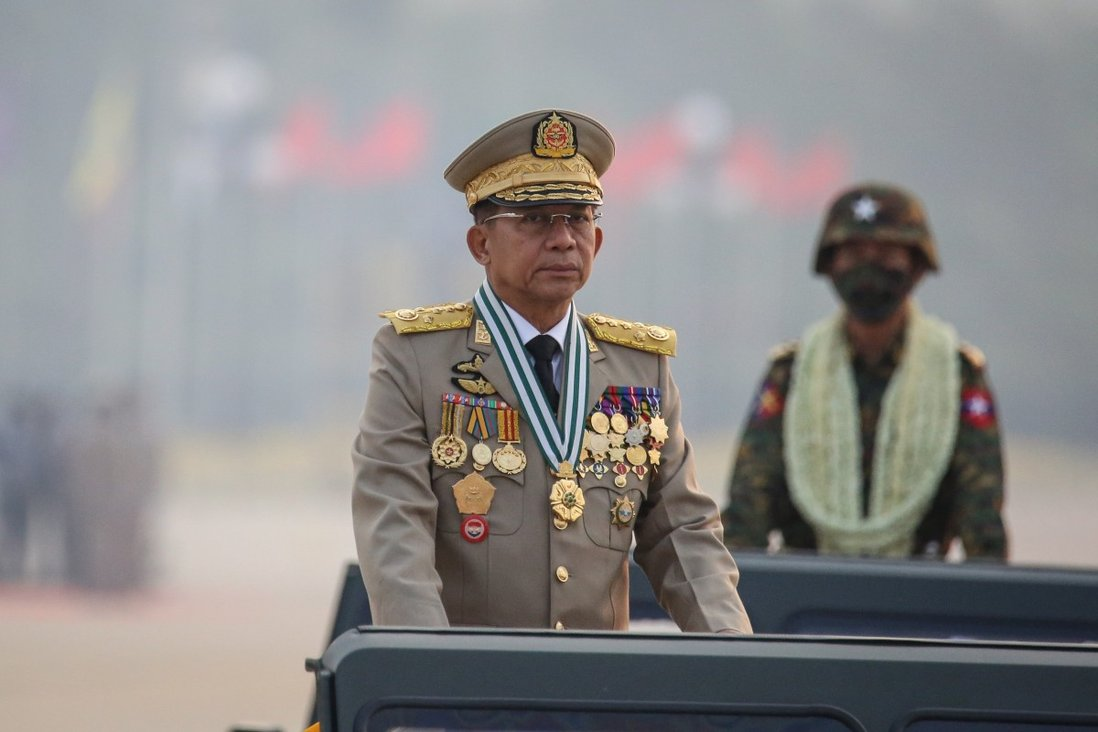 Senior General Min Aung Hlaing, the mastermind of the coup in Myanmar. Photo: EPA