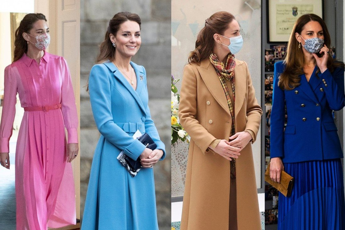 Kate Middleton's best fashion looks this month: from luxury British brands to the humble Veja sneakers also loved by Meghan Markle – and the H&M top she wore to get the Covid-19