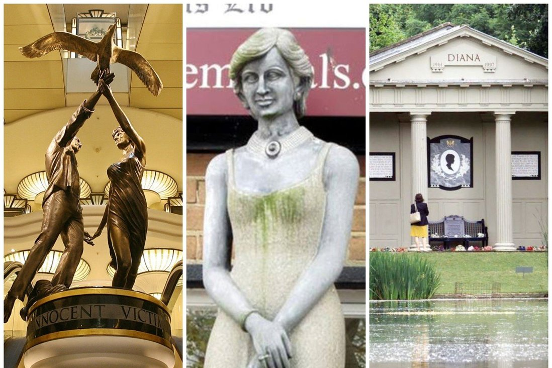 6 Princess Diana Statues And Memorials From Paris Place Diana To The Tacky Innocent Victims Bronze Figures Installed In Harrods London South China Morning Post