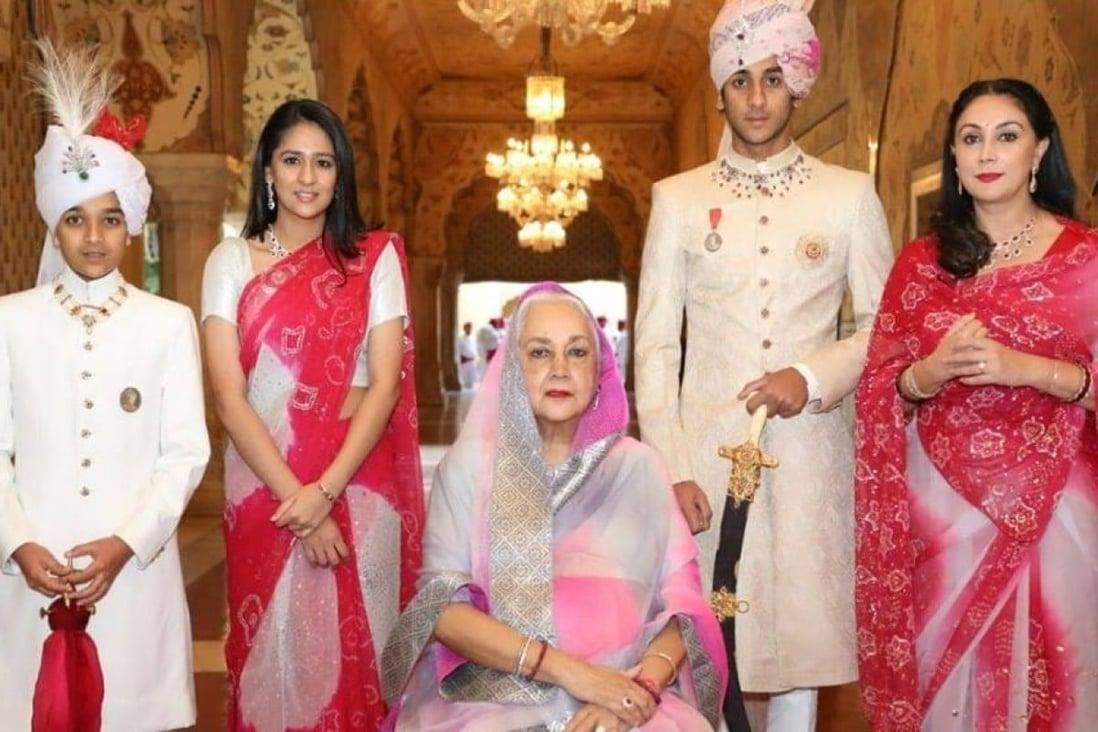The royal family of Jaipur. Photo: @royalfamilyjaipur/Instagram