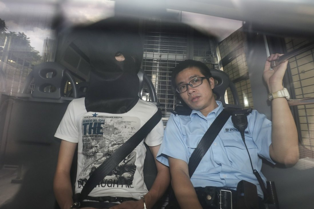 Louis Lo arrives at West Kowloon Court ahead of his bail hearing following his arrest last Saturday. Photo: Sam Tsang
