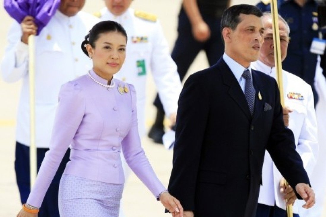 Former Thai royal Srirasmi (left) was divorced and stripped of her title by King Vajiralongkorn (right). Her parents have been jailed under the country's strict lèse-majesté laws. Photo: Reuters
