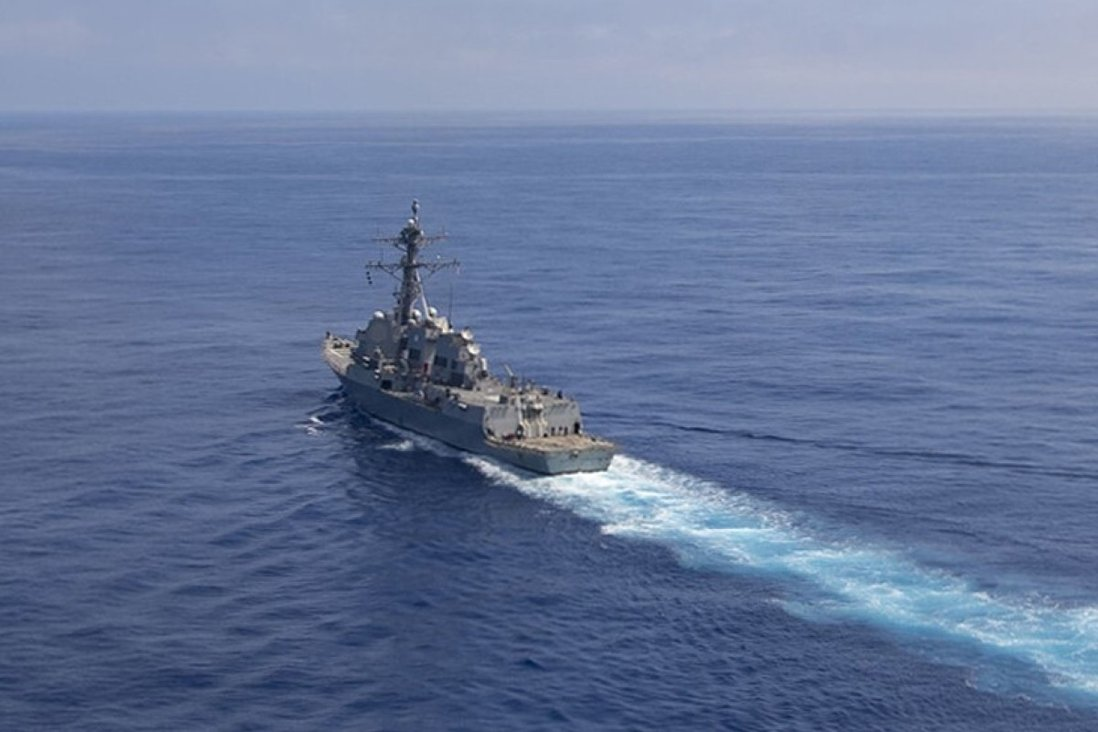 Us Destroyer Spotted Off Coast Of Shanghai As Pla Navy Begins 11 Week Exercise In Yellow Sea South China Morning Post
