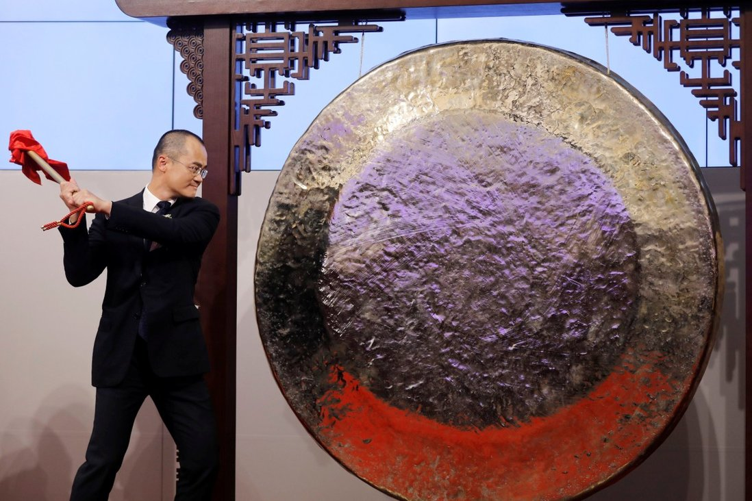 A lot more companies will be hitting the famous gong in 2021 to mark the debut of their shares on the Hong Kong stock exchange, analysts predict. Photo: Reuters