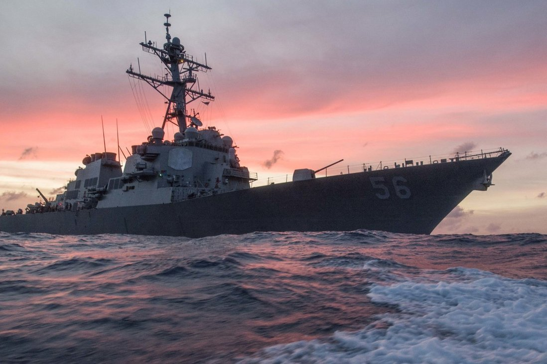 The USS John S. McCain neared the contested Spratly Islands on Tuesday. Photo: US Navy via AP