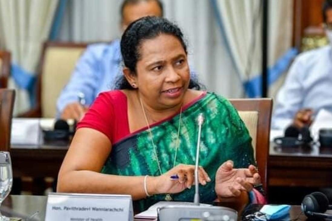 Sri Lanka's Health Minister Pavithra Wanniarachchi. Photo: Facebook