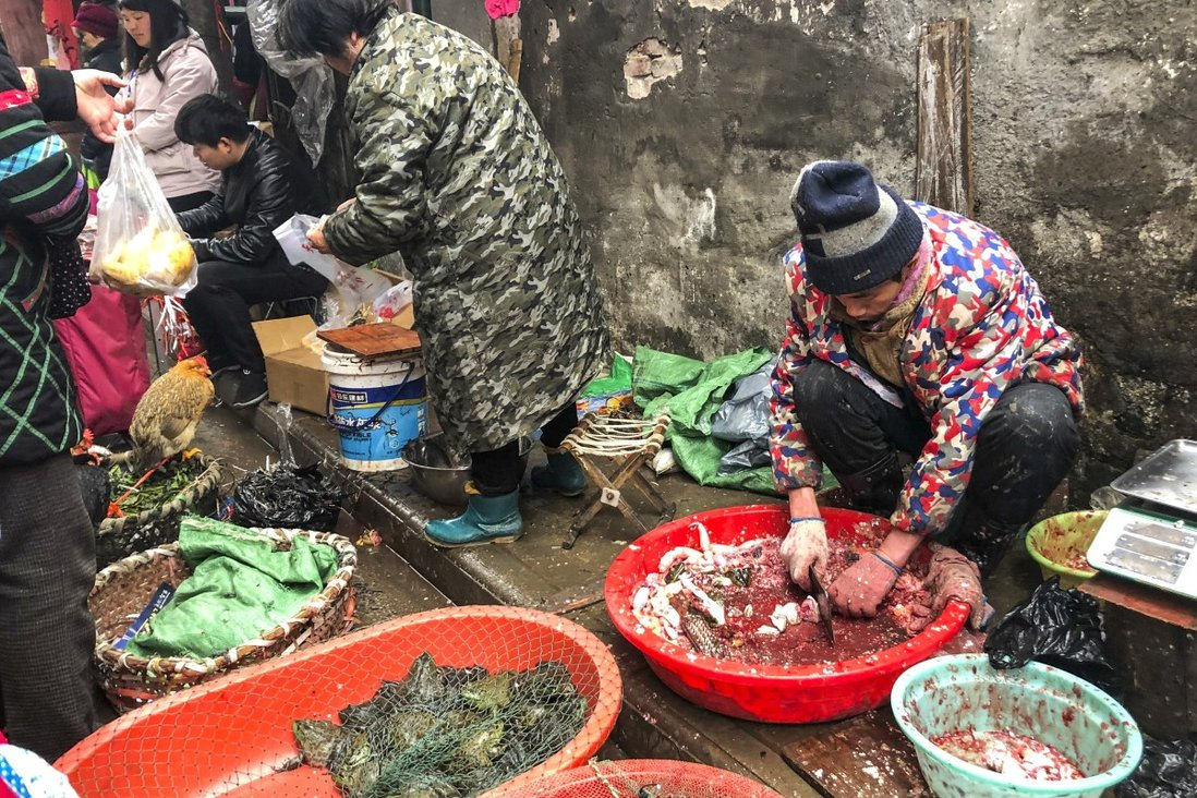 A number of early cases were linked to the Huanan seafood market. Photo: Simon Song