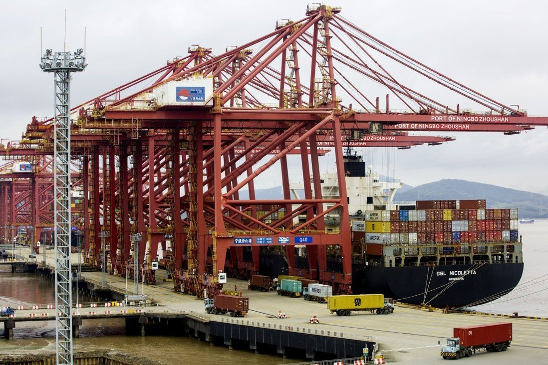 Container costs from Asia to the east coast of the United States this week rose 442 per cent from a year ago to US$20,057 per 40-foot equivalent unit, according to US-based freight-tracking firm Freightos. Photo: Xinhua