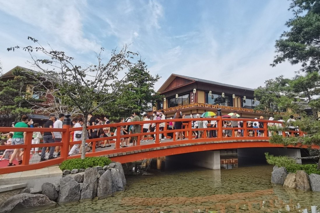 Tang Little Kyoto is located in the city of Dalian in northeast China. Photo: Weibo