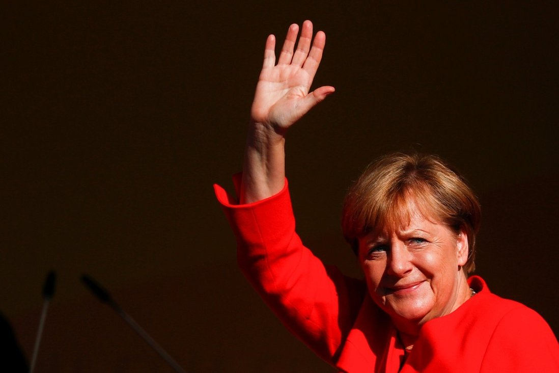 Chancellor Angela Merkel will step down after the election. Photo: Reuters