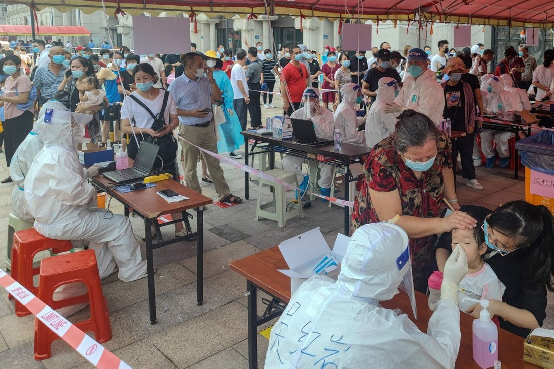 Across Fujian province, 60 new infections were reported on Monday, bringing the total number to 135. Photo: AFP