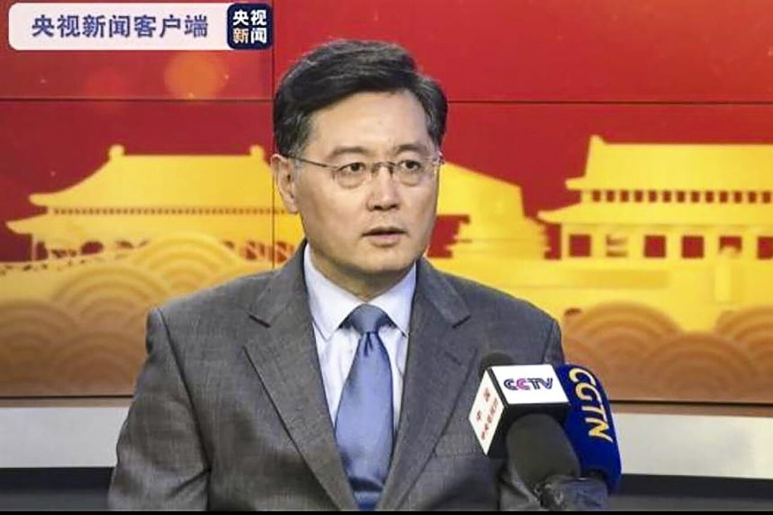 """Qin Gang says more efforts need to be made to help China and the US better understand each other in what is still a """"very difficult period"""" between the two powers. Photo: CCTV"""