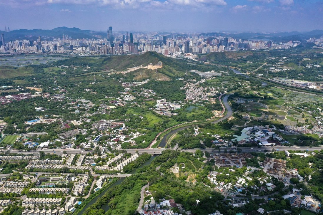 An aerial view of New Territories North, with Shenzhen seen in the distance. Photo: Winson Wong
