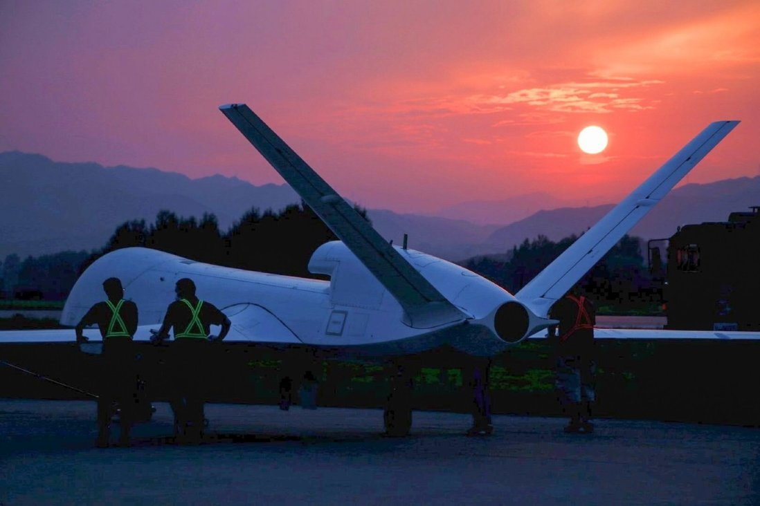 The WJ-700, or Falcon, armed reconnaissance drone has a high flight ceiling and long endurance. Photo: Weibo