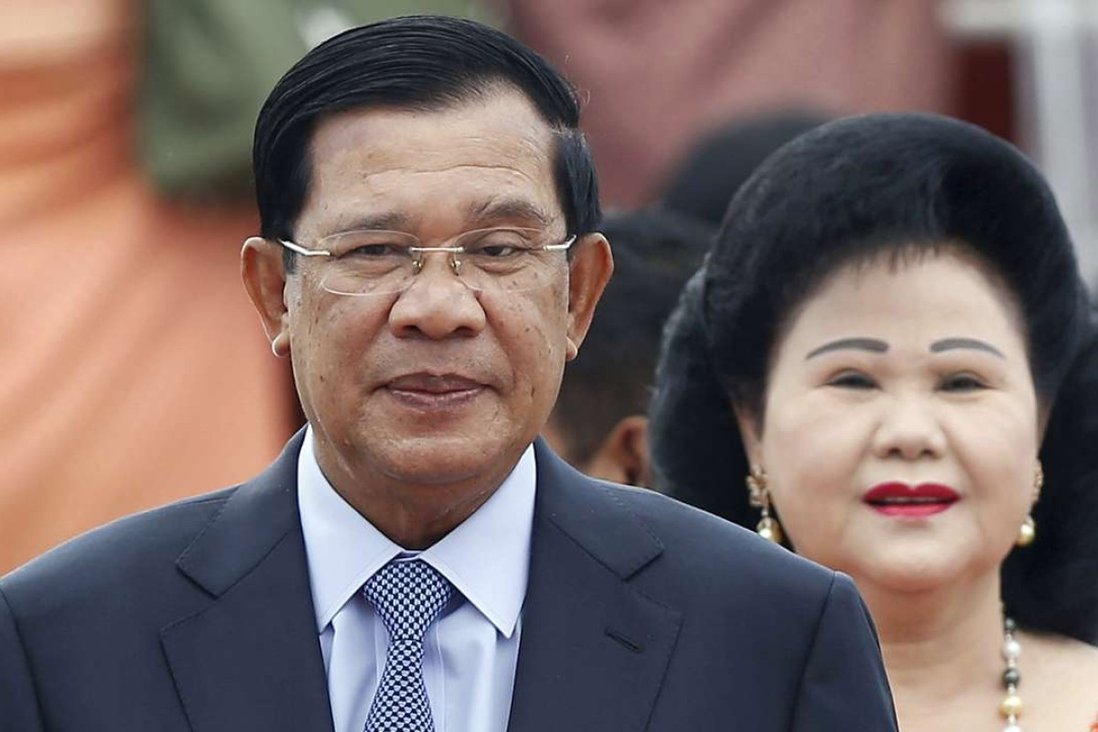 Cambodia's Prime Minister Hun Sen and his wife Bun Rany. A watchdog report says Hun Sen and his family have built a multimillion-dollar business empire spanning the country's most lucrative sectors. Photo: AP