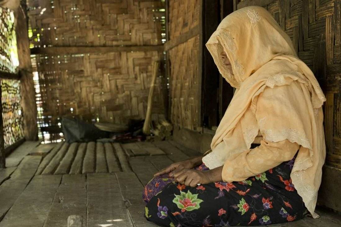 A Myo Thu Gyi woman who saw a Rohingya man being shot by the Border Guard Police as he fled on October 10, last year. Pictures: Antolín Avezuela
