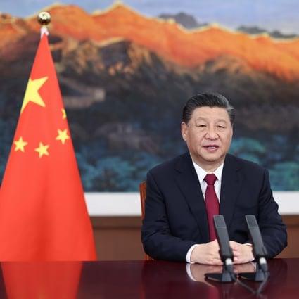 El presidente chino, Xi Jinping, habla por video en la ceremonia de apertura del Foro de Boao para Asia el martes.  Foto: Xinhua