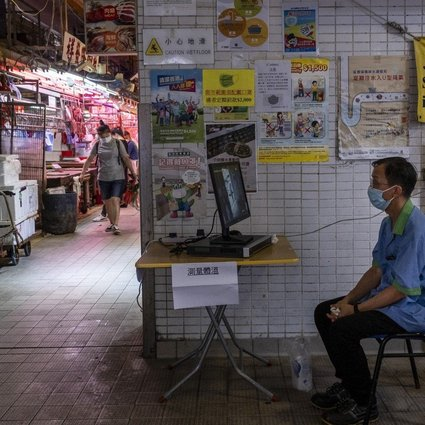 In wet markets like this, swimming pools, parks and on the streets in Hong Kong is an army of underemployed and elderly cleaners and sweepers. They are the victim's of colonial officials' opposition to free compulsory education, which left those from poor families semi-literate at best. Photo: Vernon Yuen/NurPhoto via Getty Images