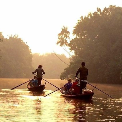 Tourists enjoy a boat trip in Chi Phat, Cambodia. A World Bank initiative is promoting eco-tourism in the country to make the industry more sustainable and boost nature conservation in the Southeast Asian country.
