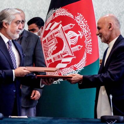 Afghan Rivals Ashraf Ghani And Abdullah Abdullah Sign Power Sharing Deal South China Morning Post