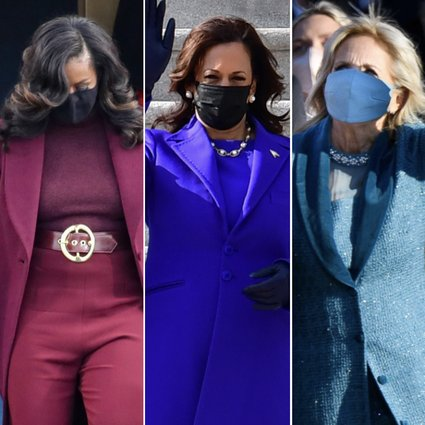 Who Wore It Best At Joe Biden And Kamala Harris Inauguration Ceremony Melania Trump Said Goodbye In Chanel And Dolce Gabbana While Lady Gaga Donned Bespoke Schiaparelli Haute Couture South
