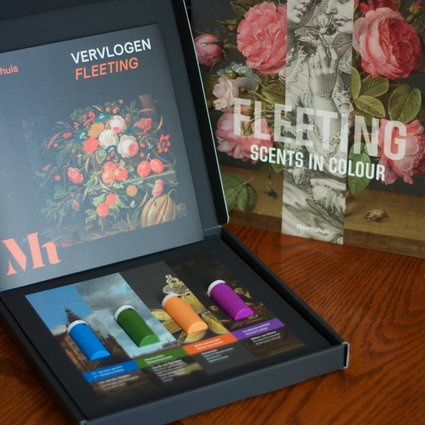 Fleeting – Scents in Colour is a multisensory exhibition of paintings by 17th century Dutch masters mixed with the smells of the scenes they depict. Four of the aromas are available for home viewers to sniff while watching an accompanying video. Photo: Peter Neville-Hadley