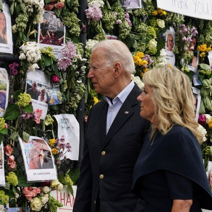 Never give up hope': Joe Biden consoles families of Surfside victims in Miami as search for survivors is paused | South China Morning Post